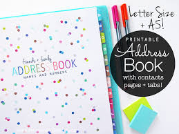 Clean Life And Home New Printable Address Book With Tabs Lots Of Dots