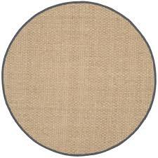 safavieh natural fiber beige dark gray 8 ft x 8 ft round area