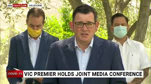 This christmas light display in melbourne featuring a remix of daniel andrews saying, 'get on the beers'. Herald Sun Watch Live Daniel Andrews Press Conference Facebook