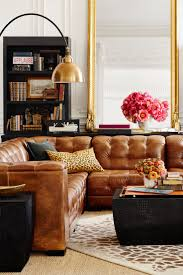 Leather Sectional Living Room 17 Best Ideas About Brown Leather Sectionals On Pinterest