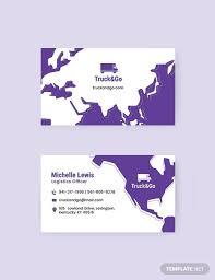 Truck Transport Business Card Business Card Templates