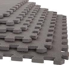stalwart interlocking eva foam floor mats gray 24x24x 5 set of 6