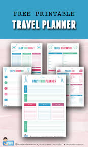 Free Trip Itinerary Planner Free Printable Travel Planner Paradise Holidays Blog