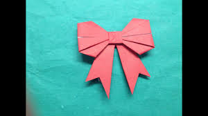 How To Fold A Paper Bow Ribbon The Art Of Paper Folding