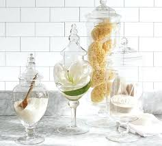 bathroom glass containers decorative bathroom glass containers