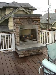 outdoor gas fireplaces for decks covered