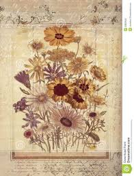 fashion wall decor beautiful flowers botanical vintage style wall art with textured