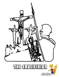 Christ crucifixion coloring for kids