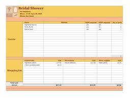 Bridal Shower Budget Calculator Checklist Worksheet Template Images ...