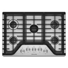 30 5 burner gas cooktop. Fine Gas KitchenAid 30 In Gas Cooktop In Stainless Steel With 5 Burners Including A  Multi Inside Burner U