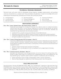 Technical Trainer Resume Technical Instructor Resume Personal Trainer Resumes Fitness Samples