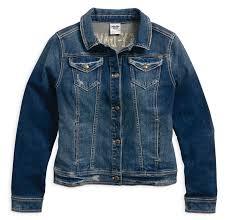 h d motorclothes harley davidson women s denim blue casual jacket studded eagle 96021 18vw