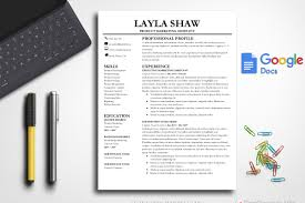 Resume Template For Google Docs Resume Templates Creative Market