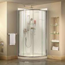 corner shower stall kits. Corner Framed Sliding Shower Stall Kits
