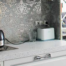 ... Kitchen Wall Tile Crystal Glass Mosaic Tiles Puzzle Mirror Surface  Kitchen Stickers Transfers Bq: ...