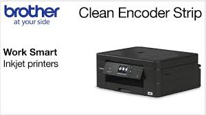 Cleaning the <b>encoder strip</b> – Brother Work Smart series - YouTube