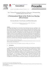 Pdf A Mathematical Model Of The Profit Loss Sharing Pls Scheme