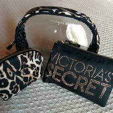 trio victoria 39 s secret cosmetic bag leopard