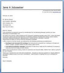 Senior marketing manager cover letter