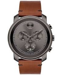 movado men s swiss chronograph bold rustic brown leather strap movado men s swiss chronograph bold rustic brown leather strap watch 44mm 3600367 pandora jewelry pandora and mesh