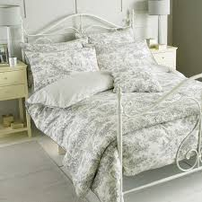 riva paoletti canterbury tales 100 cotton 200 thread count duvet cover set grey king linens limited