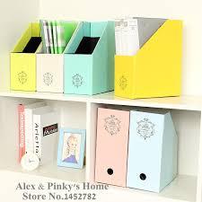 paper office desktop storage box file box korea creative lovely book doent storage box holder