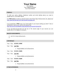 Examples Of Resumes With No Job Experience Simple Resume Sample