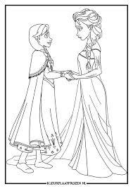 Kleurplaat Van Elsa En Anna Uit Frozen Kleurplaat Elsa Pinterest