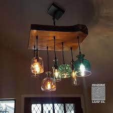 the little big sur glass and wood chandelier