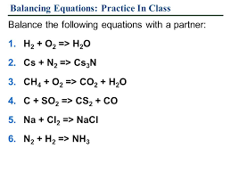 balancing equation quiz