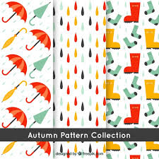 Fall Patterns Cool Fall Patterns Umbrellas Boots And Rain Vector Free Download