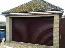 roller shutter door in rosewood