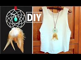 Dream Catcher Shirt Diy DIY Dreamcatcher Necklace DIY Boho Jewelry YouTube 83