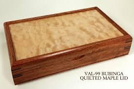 valet jewelry box handmade from bubinga wood with no inlay