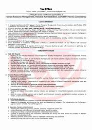 Sap Mm Fresher Resume Format Unique Hr Resume Format For Freshers