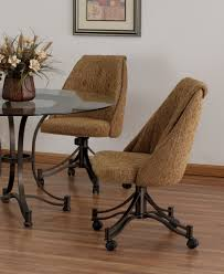 trendy rolling dining chairs 25