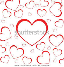 valentines love heart decorative heart background with lot of valentines hearts vector template design