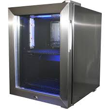 mini glass door bar fridge all stainless steel with lock and small refrigerator model dw sc20