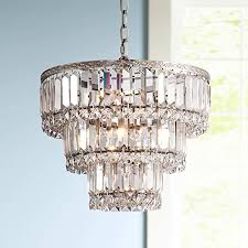 unthinkable brushed nickel crystal chandelier magnificence satin 14 1 4 wide com orb 6 light