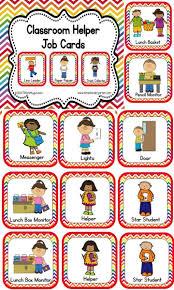 Classroom Helper And Job Cards Rainbow Chevron Classroom