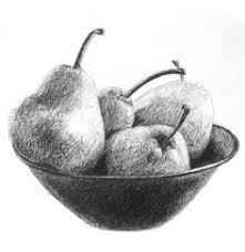 fruit bowl drawing with shading. Delighful Drawing Learn How To Draw This Bowl Of Pears Using A Single Pencil Part The With Fruit Bowl Drawing Shading