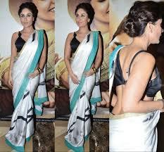 Kareena Kapoor Blouse Design In Gabbar Is Back Yay Or Nay Kareena Kapoor In Satya Paul Pinkvilla