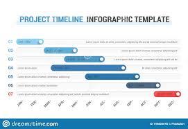Gantt Chart Infographic Timeline Infographics Stock Vector Illustration Of