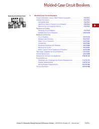 Westinghouse Circuit Breaker Cross Reference Chart Westinghouse_e2030 Manualzz Com