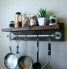 hanging pots and pans rack wall mounted pot and pan rack unusual ideas design hanging pots
