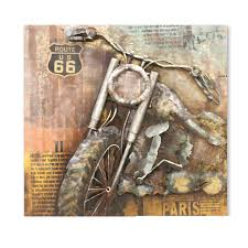 motorbike on route 66 metal wall art view 1  on motorbike metal wall art uk with motorbike on route 66 metal wall art