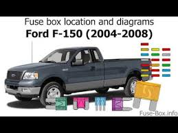 fuse box location and diagrams ford f 2005 Ford F150 Fuse Box Wiring Diagram 2005 Mustang GT Fuse Box Diagram