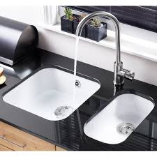 white ceramic undermount kitchen sink modern on pertaining to sinks faucets astracast lincoln bowl round gloss 29