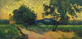 vincent van gogh landscape at twilight oil painting reion