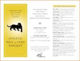 Banquet Program Examples Sports Awards Banquet Program Template Program Template